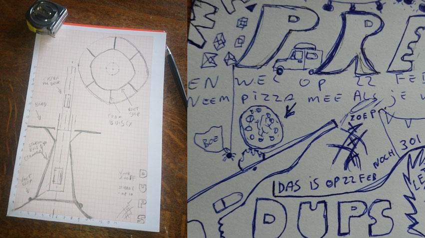 dups-schetsen, marcel van den boogert